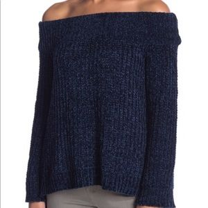 English factory off-the-shoulder sweater